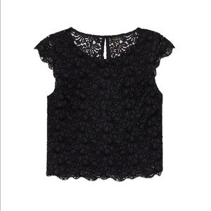 TALULA ARITZIA Portobello Lace Blouse Black
